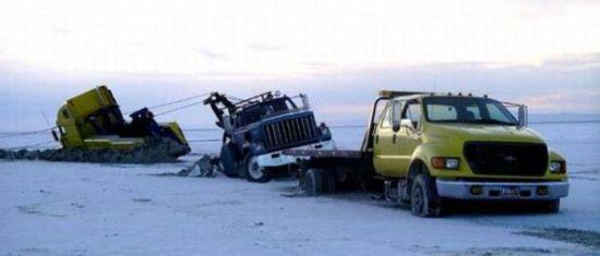 Buzlar eridi arabalar böyle pert oldu galerisi resim 11