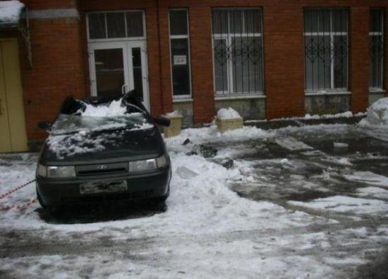 Buzlar eridi arabalar böyle pert oldu galerisi resim 3