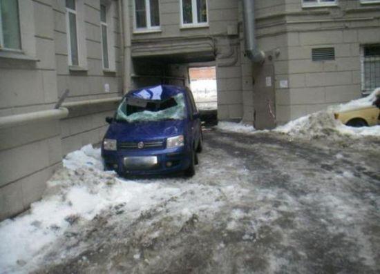 Buzlar eridi arabalar böyle pert oldu galerisi resim 4