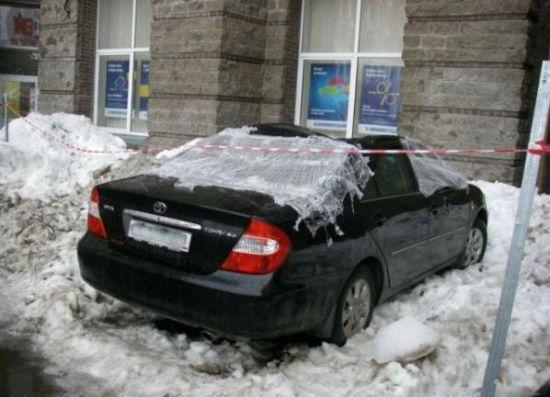 Buzlar eridi arabalar böyle pert oldu galerisi resim 6