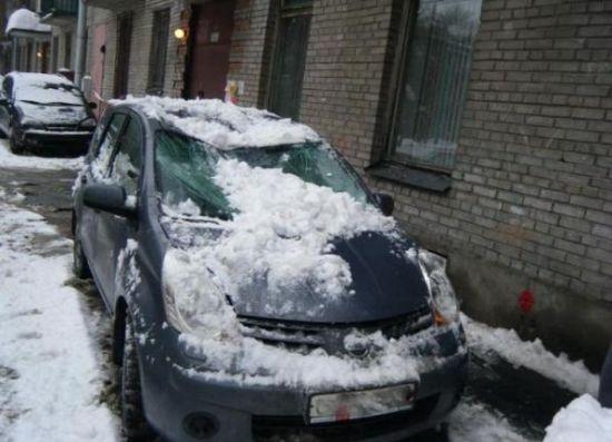 Buzlar eridi arabalar böyle pert oldu galerisi resim 8