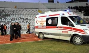 Ambulans 130 TL için sahaya gelmedi