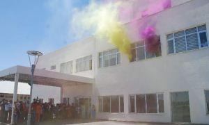 Sağlık personeli olacak öğrencilere yangın eğitimi