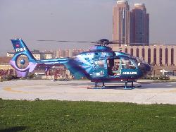 Ambulans helikopter her derde deva