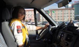 Kırıkkale'ye kadın ambulans şoförü