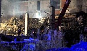 Sivas'ta hastane inşaatı çöktü