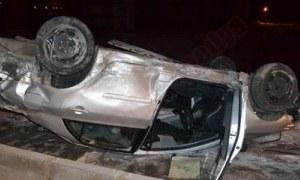 SGK il müdürü kaza yaptı