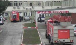 Bursa'da hastanede çıkan yangın korkuttu