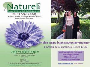NATÜREL festivali 12-15 aralık'ta!