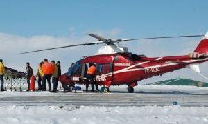 Ambulans Helikopter köylerdeki hastalar için havalandı!