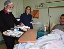 Hastalara açık büfe kahvaltı