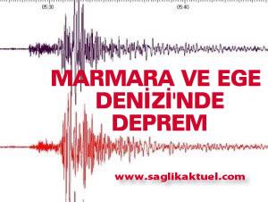 Marmara ve Ege Denizi'nde 6.7 büyüklüğünde deprem