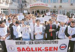 Tabipler Odası'na protesto