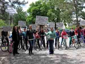 Sağlıklı yaşam için bisiklete binme etkinliği düzenlendi