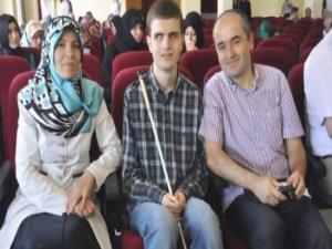 Görme engelli Enes'in büyük başarısı