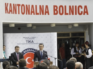 TİKA tarafından yenilenen Gorajde Kanton Hastanesi'nin açılışı yapıldı
