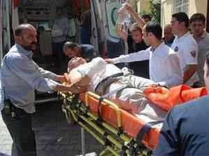Ramazan topunun erken patması sonucu 1 kişi yaralandı