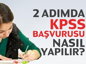 2 adımda KPSS başvurusunu nasıl yapılır?