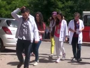 Tıp fakültesi öğrencilerinden köyde sağlık taraması