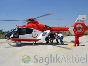 Gece görüşlü ambulans helikopterler ekipleri uçuşa hazır