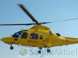 Ambulans helikopterlerin gece uçuşları başlıyor