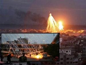 Gazze'de fosfor bombalı katliam!