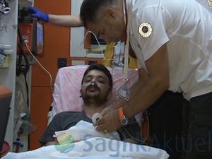 Gazze'de hastalanan Kızılay görevlisinin sağlık durumu iyi