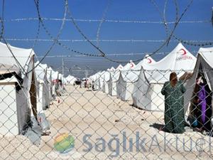 Çadırda kalan Suriyeliler sağlık kontrolünden geçirildi