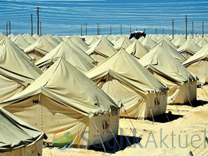 Fişabur'a 20 bin kişilik çadır kent