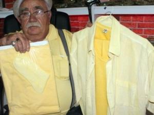 Safranbolu'da safranlı organik gömlek yapıldı