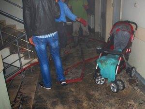 Yatağını ateşe veren hasta, hastane boşalttırdı