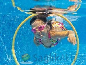 Havuzdaki fazla klor korneaya zarar veriyor