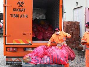 35 bin ton tıbbi atık imha edildi