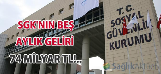 SGK'nın beş aylık geliri 74 milyar TL!..