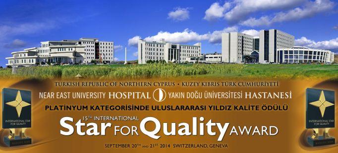 YDÜ Hastanesi'ne İsviçre'den Yıldız Kalite Ödülü