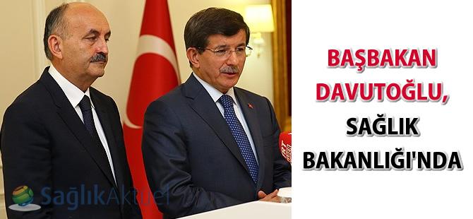 Başbakan Davutoğlu, Sağlık Bakanlığı'nda