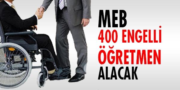 MEB, 400 engelli öğretmen alacak