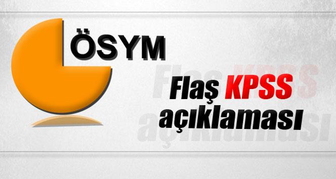 ÖSYM'den flaş 'KPSS' açıklaması