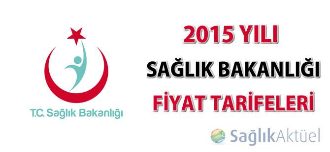 2015 Yılı Fiyat Tarifeleri