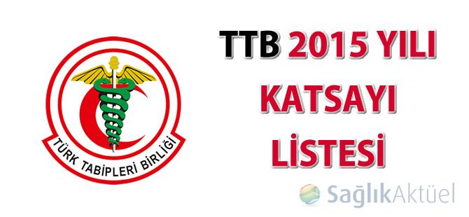 TTB 2015 Yılı Katsayı Listesi
