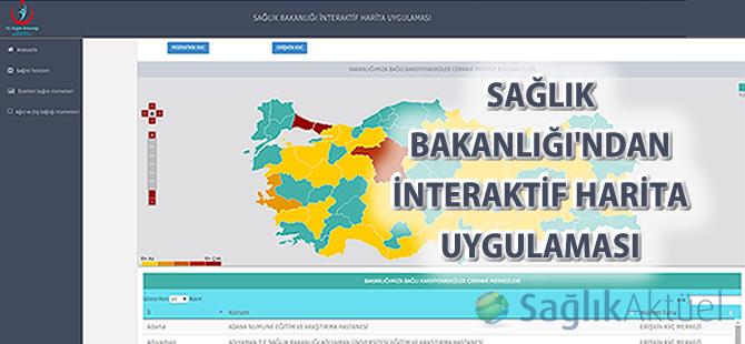 Sağlık Bakanlığı'ndan interaktif harita uygulaması