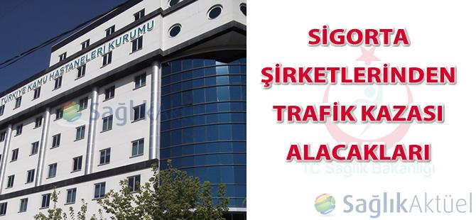 Sigorta şirketlerinden trafik kazası alacakları