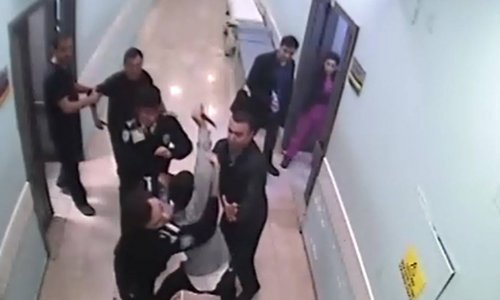 Devlet hastanesinde güvenlik görevlisine bıçaklı saldırı