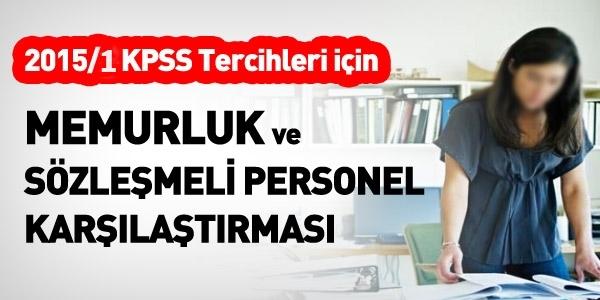 2015/1 KPSS tercihlerindeki memurluk ve KİT sözleşmeli karşılaştırması
