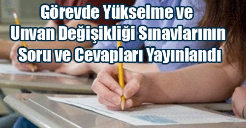 PGY ve PÜD sınav sorular ve cevaplar yayımlandı