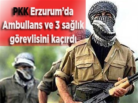 PKK'lı teröristler 3 sağlık görevlisini kaçırdı