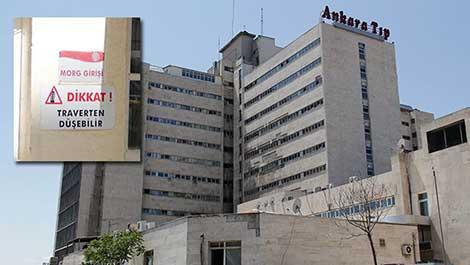 İbn-i Sina Hastanesi'nde dikkat 'traverten düşebilir'