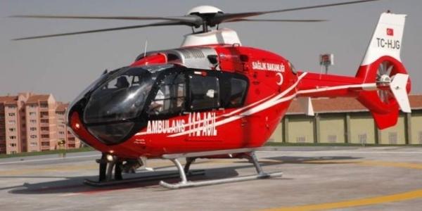Trabzon'da, bir ayda helikopter ambulansla 25 hasta taşındı
