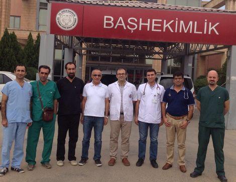 Dokuz doktor gönüllü olarak Cizre'de