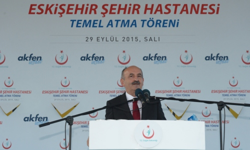 Müezzinoğlu, 1081 yataklı Eskişehir Hastanesi temel atma töreni'ne katıldı